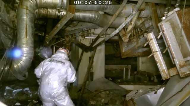 福岛核电站反应堆内部视频首次曝光
