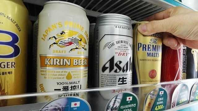 日本对韩啤酒出口比去年减少99%