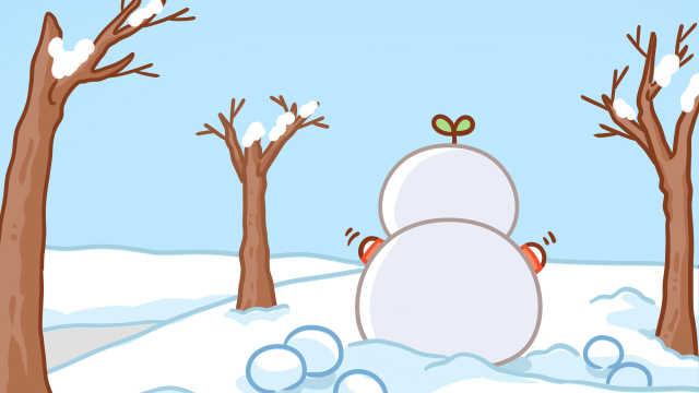 今年你堆雪人了啊?