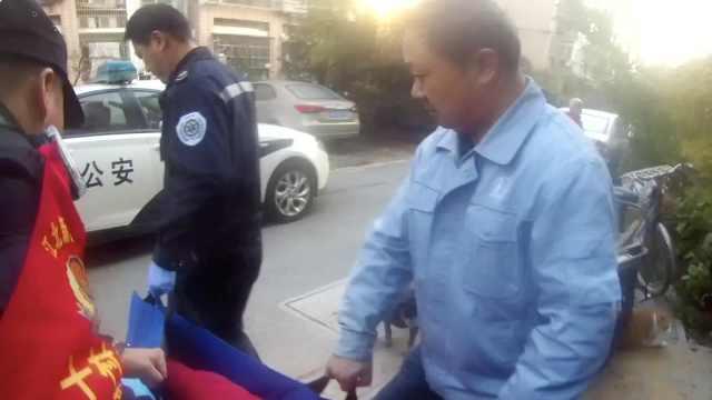独居老人突发疾病江北民警上门帮助