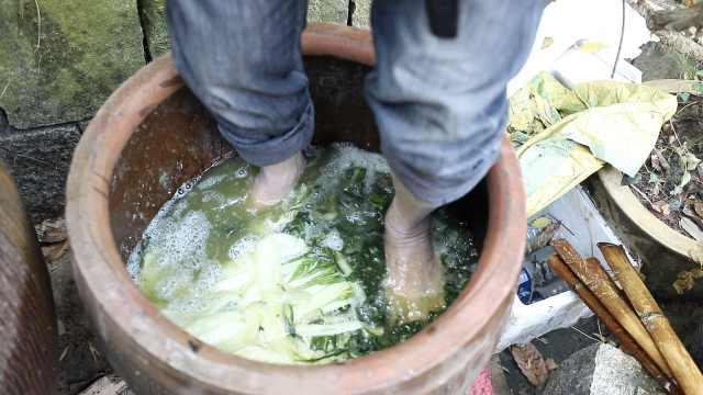 杭州人的年味追求:汗脚踩出的腌菜