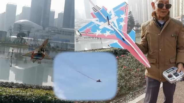 7旬翁自学组装飞机,飞1500米耍特技