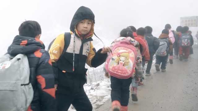 6岁孩子走6万步山路上学