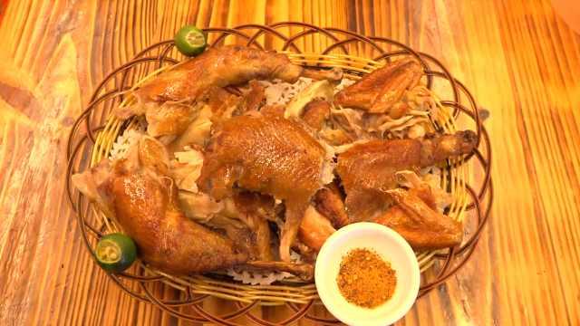 荔枝柴烤鸡:七天七夜学烤鸡,最多能卖上百只!