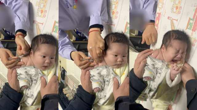 表情进化!萌宝打疫苗上头,网友笑喷