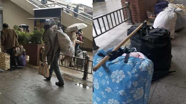 6旬民工结伴回家:孩子给的钱不舍花