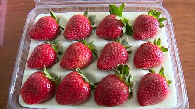 黑草莓颜值高味道美,16颗卖100元