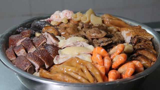 广东年夜饭必备:盆菜寓意美好团圆
