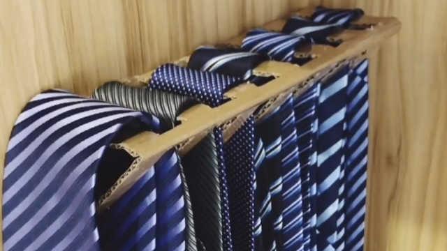 领带的收纳方法