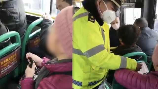 女子公交拒不戴口罩,其他乘客下车