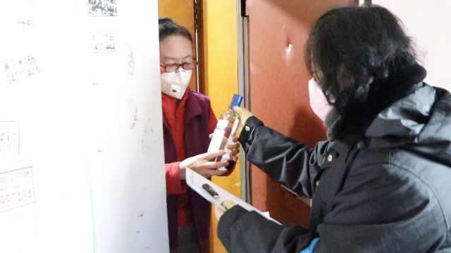 哈尔滨小区封闭管理,每户送瓶酒精