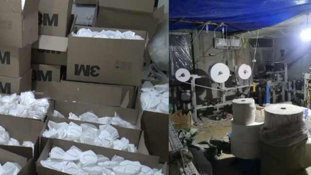 他造数万假口罩,竟用救护车拉货卖