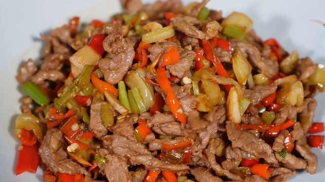 特色小炒黄牛肉:鲜香爽辣嫩,下饭佐酒两相宜