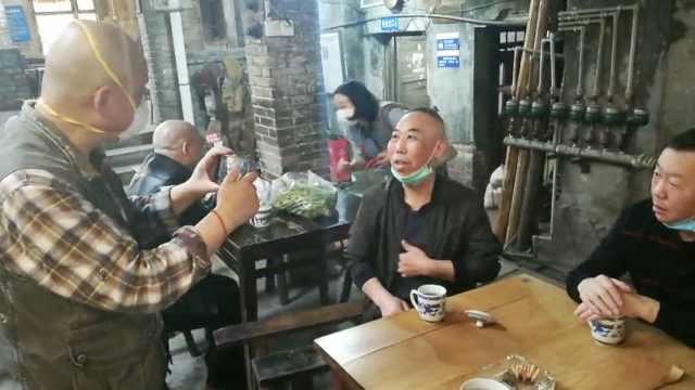 重庆网红交通茶馆修缮完工开放,教授老板亲自迎客,游客排队