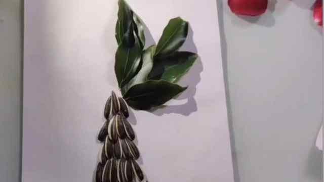 丑小鸭创意手工瓜子、树叶秒变大树不是梦