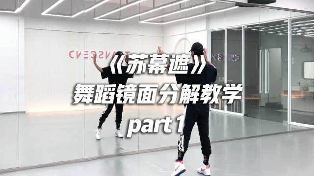 白小白中国风编舞《苏幕遮》舞蹈镜面分解教学part1