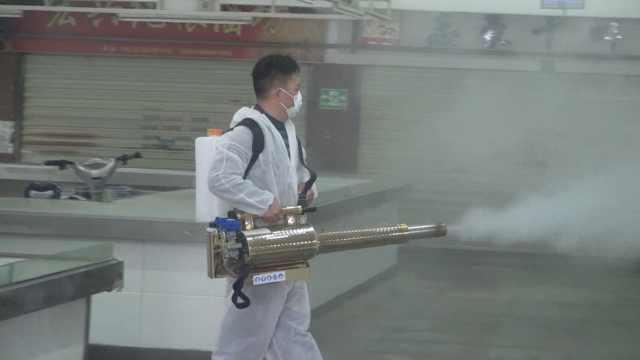 武汉农贸菜市场等开张:请专人消杀 ,空调管道也不放过
