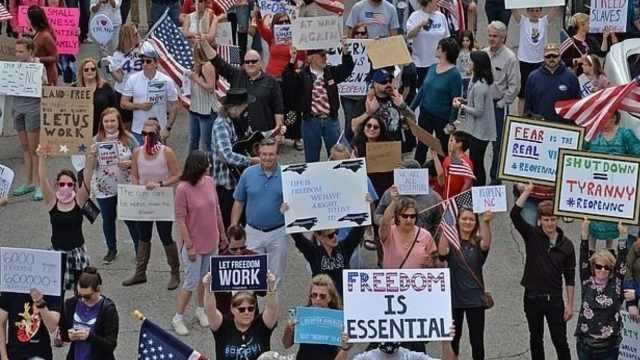 美国抗议隔离组织者确诊新冠,被迫在家隔离称权利被侵犯