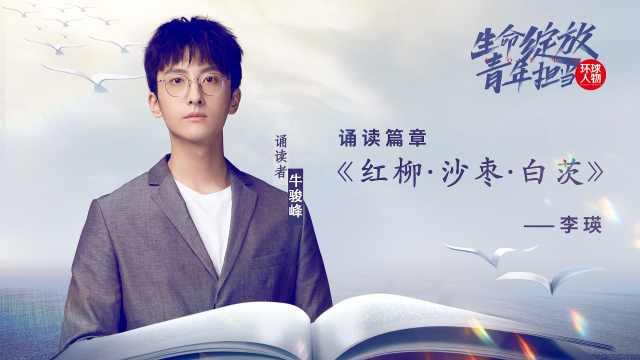 演员牛骏峰,诵读李瑛《红柳·沙枣·白茨》