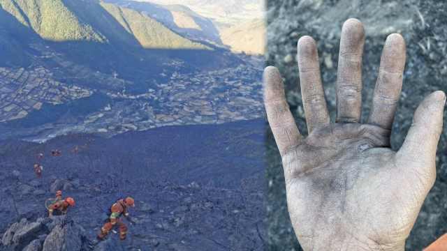 凉山火场纪实:300消防凌晨集合,黑夜中攀崖救火
