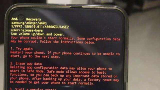 """系统时间错误,三星Galaxy手机黑屏""""变砖"""""""