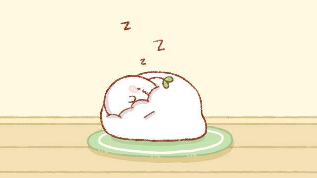 这个懒人沙发又软又舒服,看小团子睡得多香呀