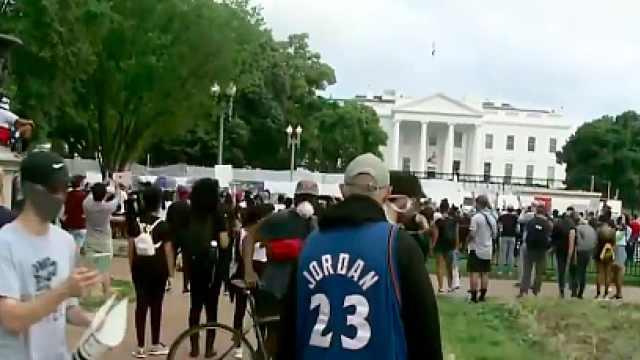 华盛顿爆发抗议白宫封锁,新视频曝光:3名警察跪压黑人死者
