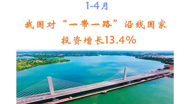 """1-4月我国对""""一带一路""""沿线国家投资增长13.4%"""