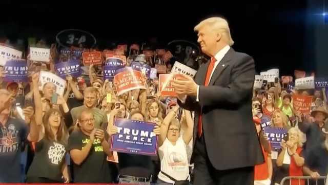 特朗普举行疫后首场竞选集会,2万支持者云集:太想看他发言