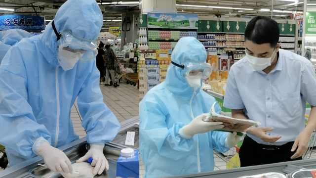 援鄂医生再披战袍带队检测超市海产,一个月检