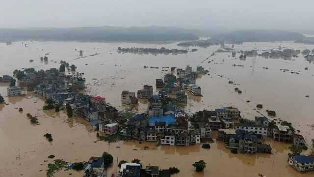 鄱阳湖预计将发生流域性大洪水,周边多个乡村