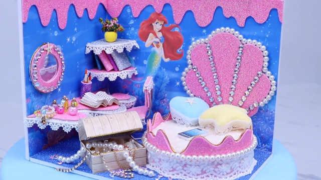 DIY迷你娃娃屋,人鱼公主的珍珠宫殿