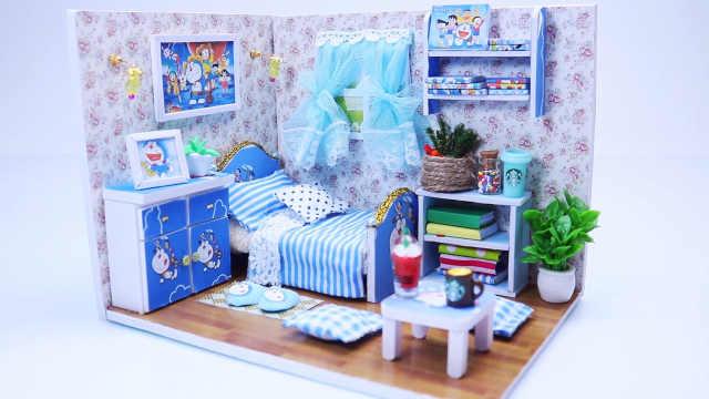 DIY迷你娃娃屋,哆啦A梦和大雄的小天地