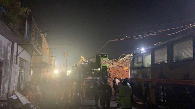 昼夜搜救还是没等来好消息,哈尔滨坍塌仓库被