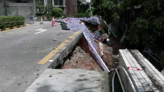 深圳一小区挡墙垮塌,5栋楼上百户居民被紧急疏