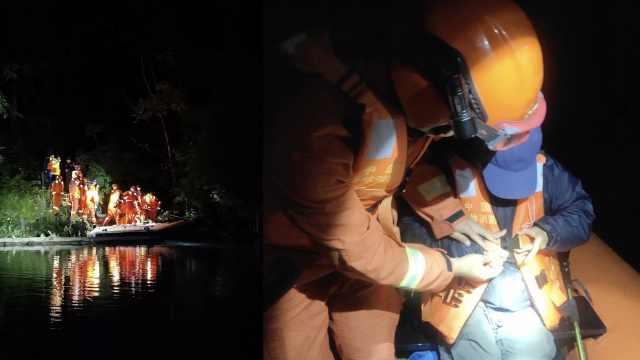 九寨g景区发生道路塌方,消防从水路救出6名被困