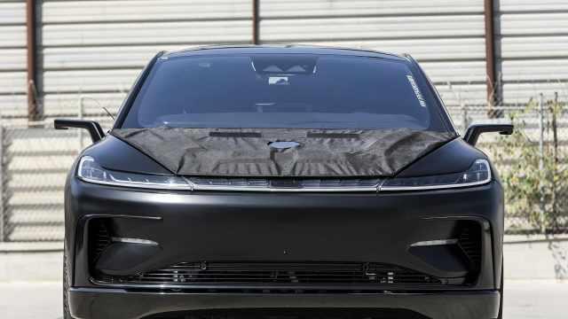 法拉第未来FF91原型车拍卖,贾跃亭曾想与特斯拉