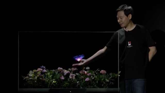 小米推出全球首款量产透明电视,售价49999元,看