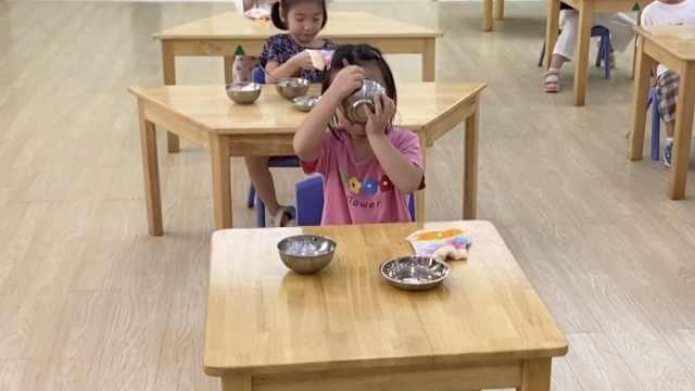 滴汤不留!幼儿园小朋友开学光盘行动,挣表现从吃饭开始