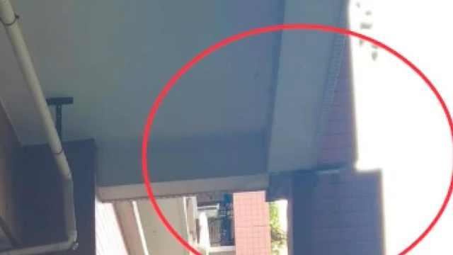 广州小区惊险一幕,住宅楼柱子断裂位移,隐患已有4年!
