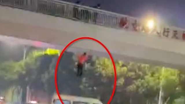 人救下,车凹了!接住跳桥男子的司机找到了