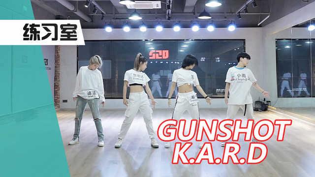 女生阵容翻跳K.A.R.D-Gunshot,练习室直拍版