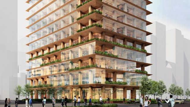 东京将建世界最大木结构写字楼,也将是最大最高木结构建筑