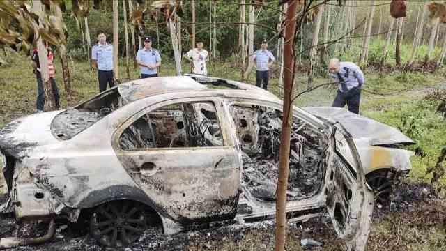 广西北海一男子撞死人逃逸后焚车灭迹