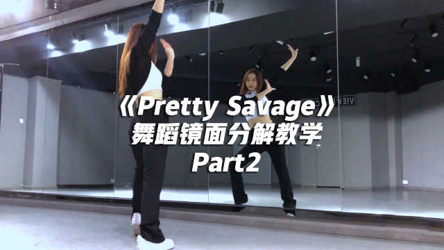 BLACKPINK《Pretty Savage》舞蹈镜面分解教学Part2