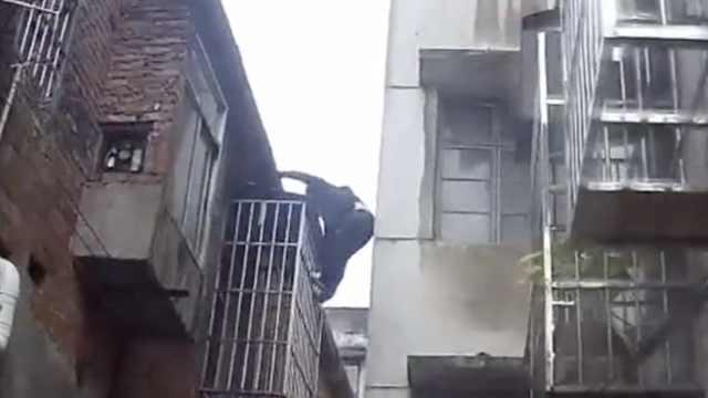 盗窃嫌犯与民警楼顶追逐上演港片情节,最终被高空作业车截下