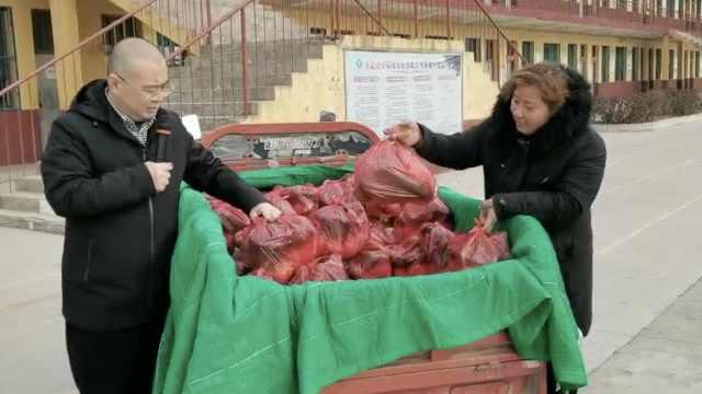 孩子学习进步家长送学校750斤蔬菜,校长曾因朴实承诺走红