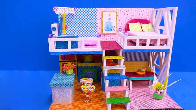 DIY迷你娃娃屋,灰姑娘的阳光小阁楼