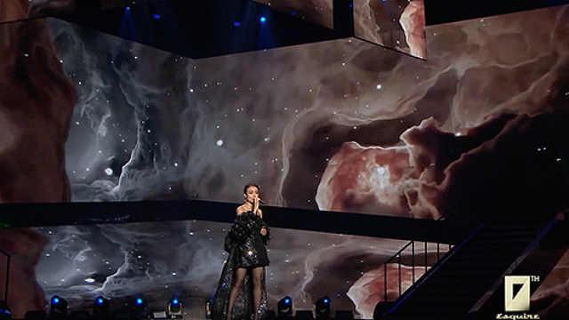 容祖儿时尚先生盛典现场演唱《独照》,天籁歌喉,深情动人