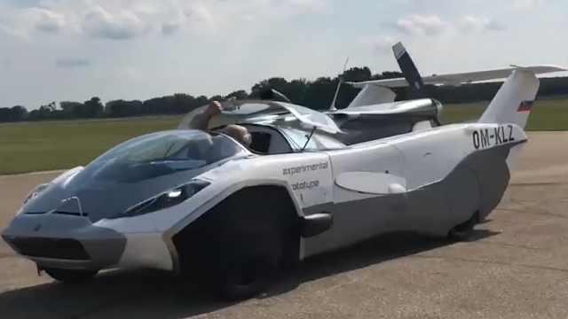 一款能飞会跑的汽车,时速达250公里,助你放飞自我!
